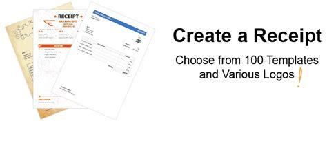 100 free receipt templates print email receipts as pdf