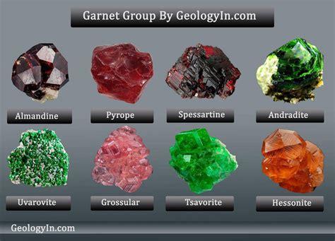 types of colors garnet the colors and varieties of garnet