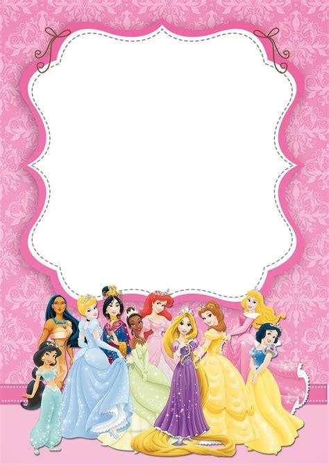 printable disney princess ticket invitation template