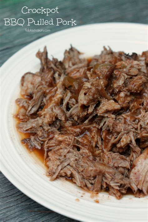 crock pot barbecue pork 5 minute crock pot bbq pulled pork fabtastic eats