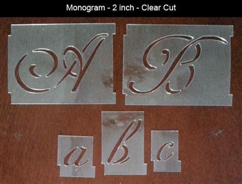 monogram alphabet stencil set sp stencils