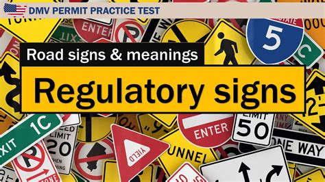 Road Signs And Meanings Regulatory