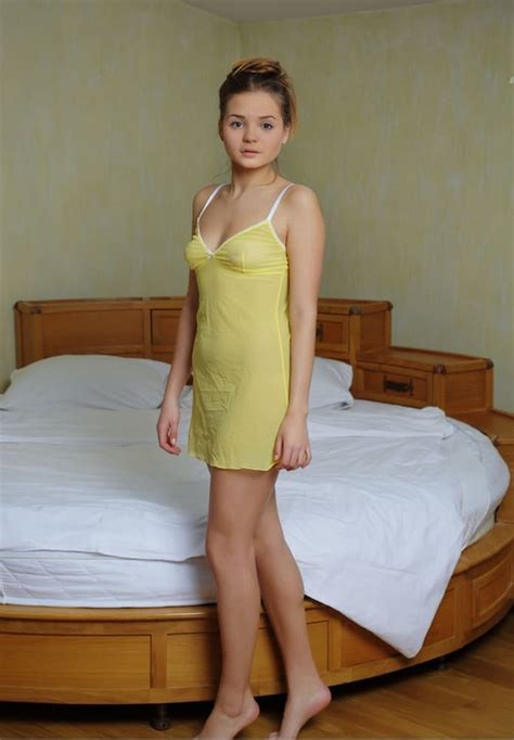 Petite Euro Girl Colleen A Slipping Out Of Lingerie To