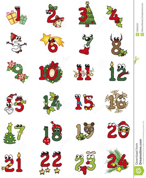 Christmas Numbers Stock Illustration Illustration Of Illustration 33960232