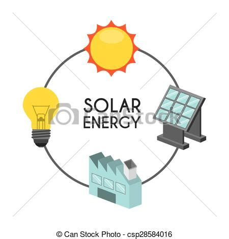 solar energy design vector illustration eps graphic