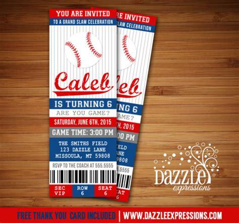 baseball ticket printable baseball birthday invitation sports ticket invite boys birthday idea free