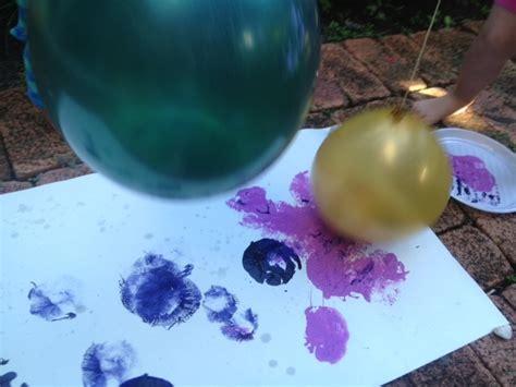 bouncy balloon splat painting  kid craft