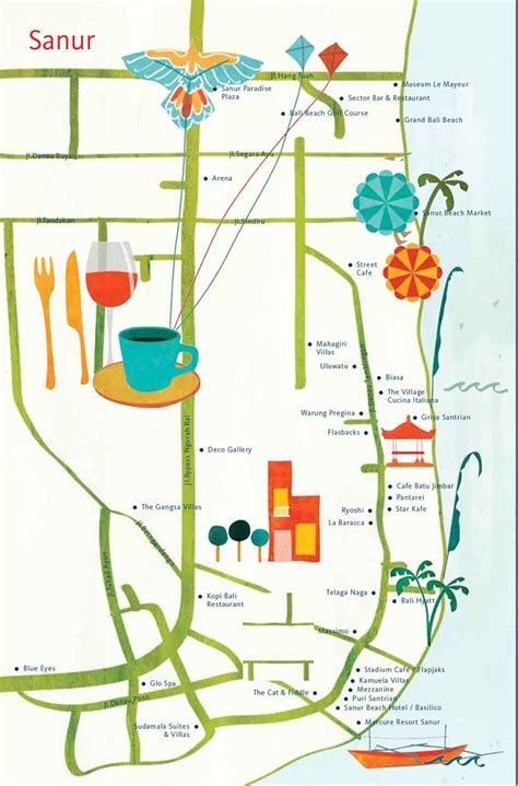 astrid prasetianti map  sanur bali  hellobali