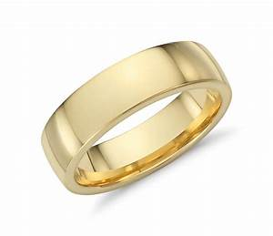 low dome comfort fit wedding ring in 18k yellow gold 6mm With 18k wedding rings