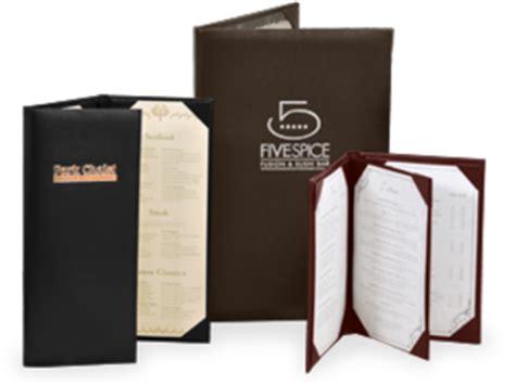 imitation leather menu covers menu shoppe