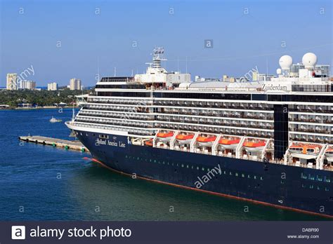 Holland America Cruise Ship In Port Everglades Fort Lauderdale Stock Photo Royalty Free Image ...
