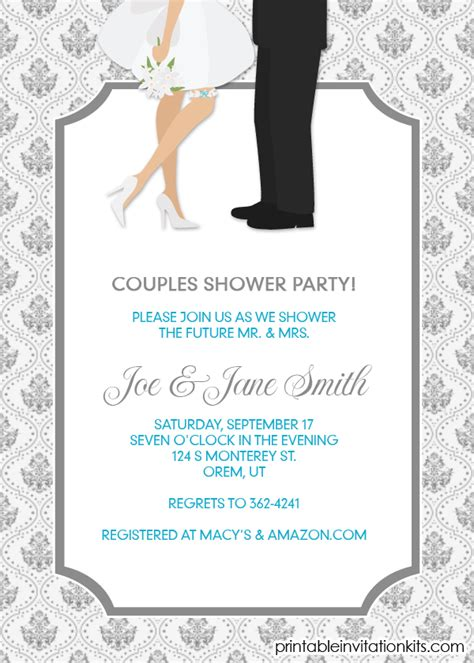 FREEDownload Couples Shower Invitation / Engagement