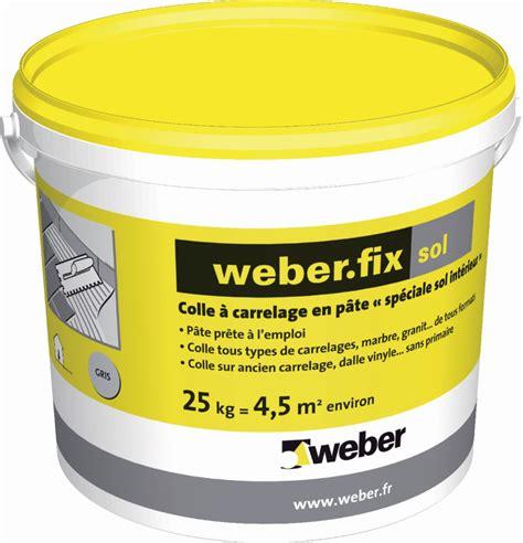colle 224 carrelage en p 226 te sp 233 ciale sol int 233 rieur d2 weber fix sol weber gris seau de 25 kg weber