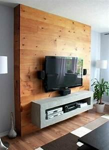 Fixer Une Télé Au Mur : le meuble t l en 50 photos des id es inspirantes ~ Premium-room.com Idées de Décoration