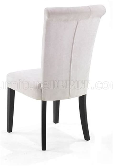 white fabric modern set of 2 tuxford dining chairs