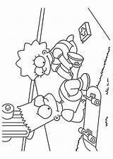 Coloring Simpsons Nurse Printable Lisa Cartoons Cartoon Parentune Worksheets sketch template