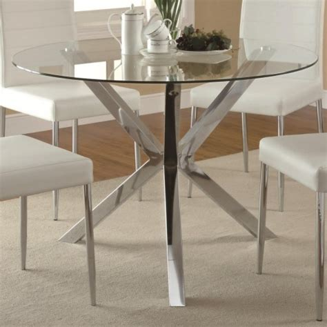 Coaster Vance Contemporary Glass Top Dining Table with