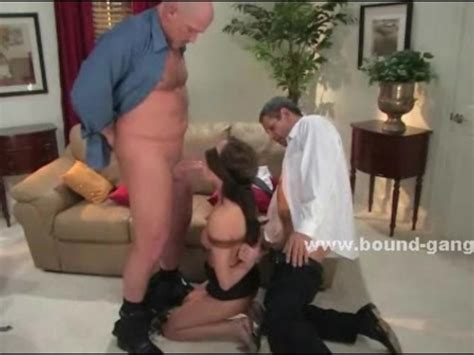 Prostitute Tied And Blindfolded In Threesome Bdsm Sex In