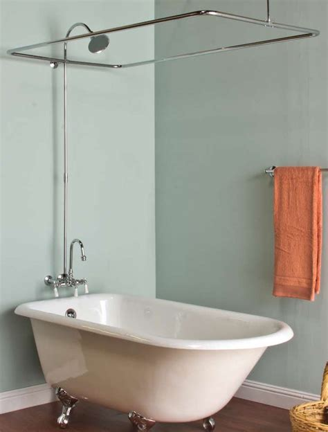 images  clawfoot tub shower  pinterest