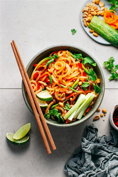 satay stir fry udon noodles full  plants