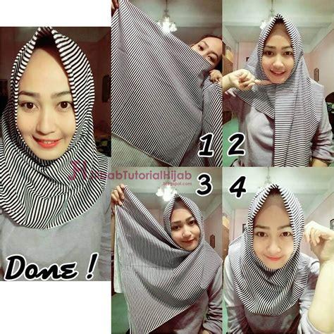 hijab segi empat sederhana jilbab tutorial hijab