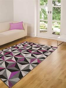 Tapis Gris Rose : tapis violet et gris maison design ~ Teatrodelosmanantiales.com Idées de Décoration
