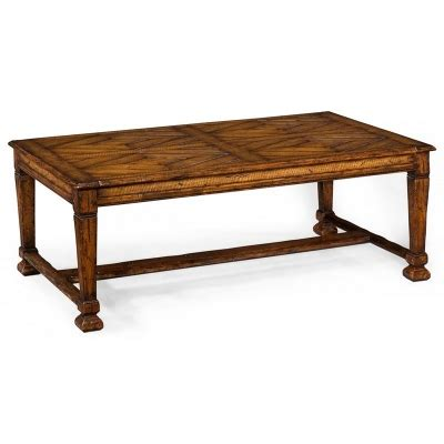baluster coffee table square jonathan charles 493445 country farmhouse coffee table