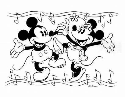 Mickey Coloring Minnie Mouse Dancing Printable Melody