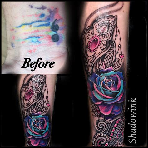 Flower Half Sleeve Tattoo Forearm