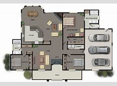 House Floor Plans in Color