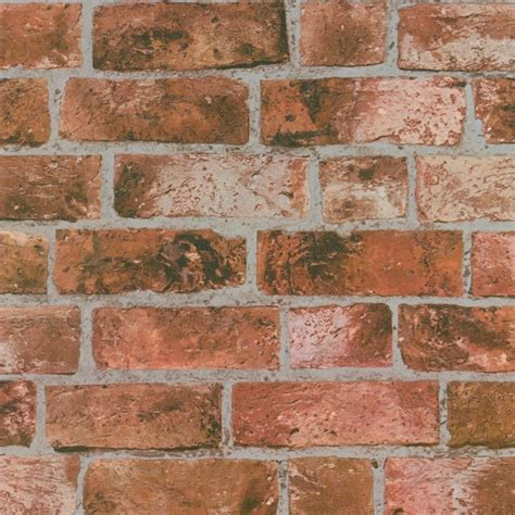 I Love Wallpaper Distinctive Brick Wallpaper Red