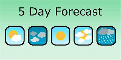 Weather Forecast Five Forecasts Display App