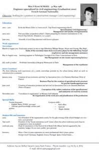 un rsum en anglais ing 233 nieur fra 238 chement dipl 244 m 233 e cherche poste d ing 233 nieur travaux 187 curriculum vitae anglais