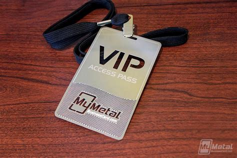 vip pass my metal business card vip pass with etching and cutout logo world leader in metal business cards