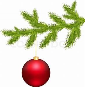 Branch Of Christmas Tree And Christmas