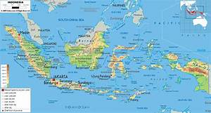 Indonesia Map - Physical Map of Indonesia Indonesia