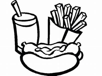 Coloring Pages Dog Fries Soda French Mcdonald