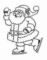 Coloring Skating Santa Ice Claus Pages Christmas Figure Printable Drawing Print Children Getdrawings Value Child Getcolorings Justcolor Colorings sketch template