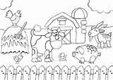 Coloring Farm Pages Animals Scene Printable Colouring Barnyard Animal Farmer Talking Sketch Barn Preschool Adult Cartoon Getcolorings Template Getcoloringpages Farms sketch template