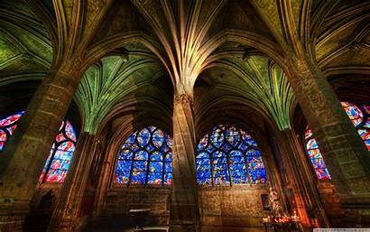 Gothic Cathedral Interior Wallpapers Architecture Church Building