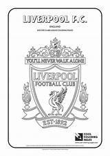Liverpool Coloring Pages Cool Soccer Logos Colouring Football Printable Fc Club Clubs Sheets Adult Books Flag Marvelous League Christmas Gd sketch template