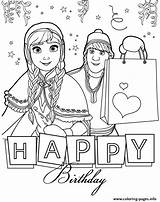 Coloring Birthday Happy Anna Frozen Kristoff Disney Printable Colouring Adult Husband Zum Geburtstag Ausmalen Gute Alles Ausdrucken Sheets Elsa Banner sketch template
