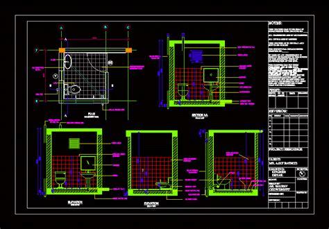 toilet details dwg plan  autocad designs cad