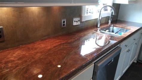 Copper Metalic Epoxy Countertops  Houston, Tx Gallery