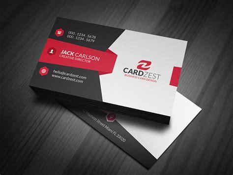 modern sleek corporate business card template cardzest