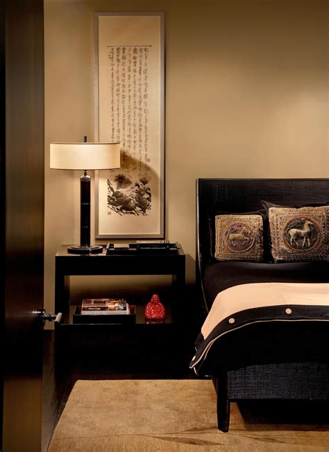 paint colors  small bedrooms  calm brown wall