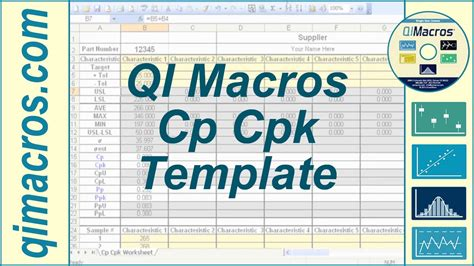 cp cpk template  excel  perform process capability