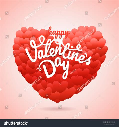 happy valentines day wishes greeting card stock vector