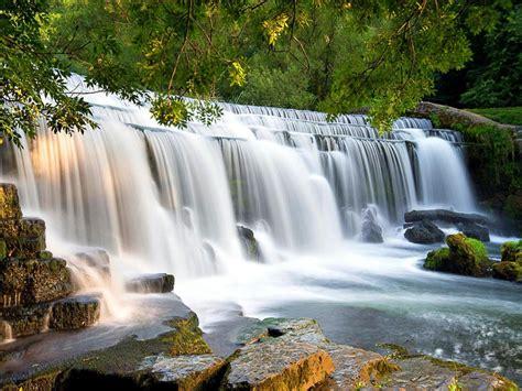 Cascades Waterfall Falling Wide Desktop Background 01674 ...