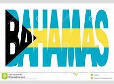 Texto De Bahamas Com Bandeira Imagens de Stock Imagem